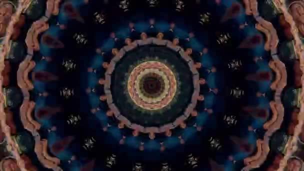 Abstraktní fantasy pozadí. Geometrický kaleidoskop, mandalový efekt.