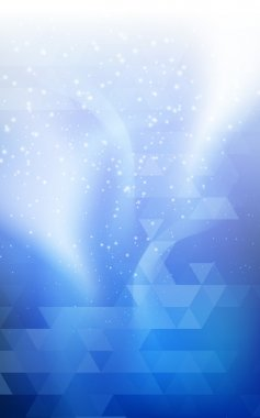 Blue vertical Christmas background Northern lights  double exposure for design