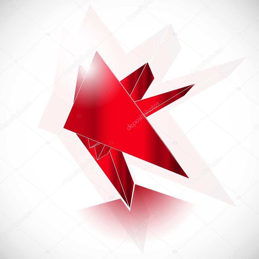 Red gem ruby shard crystal icon logo geometric art vector template ...