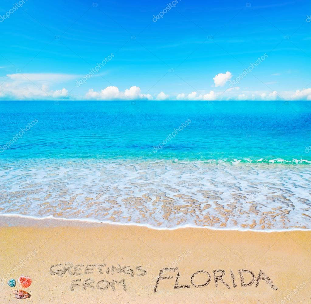 Greetings from florida written on a tropical beach stock photo greetings from florida written on a tropical beach stock photo 122190240 kristyandbryce Image collections