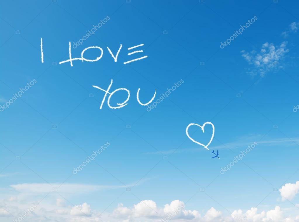 "I Love You Imágenes De Stock I Love You Fotos De Stock: ""i Love You"" Written In The Sky"