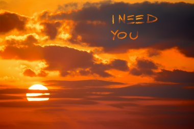 i need you written at sunset