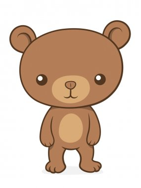 Cute little brown bear cub teddy