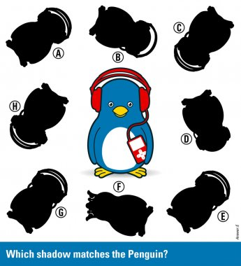 match the shadow to the penguin