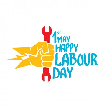vector happy labour day poster