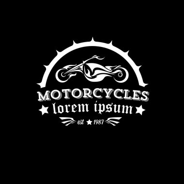vector vintage motorcycle label or badge