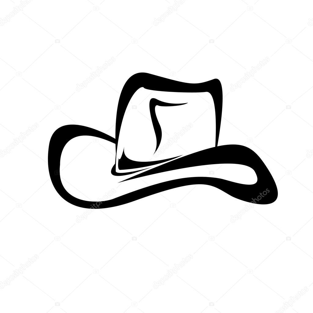 Silueta del sombrero de vaquero. Ilustración de vector — Archivo Imágenes  Vectoriales b03cb7d16bb