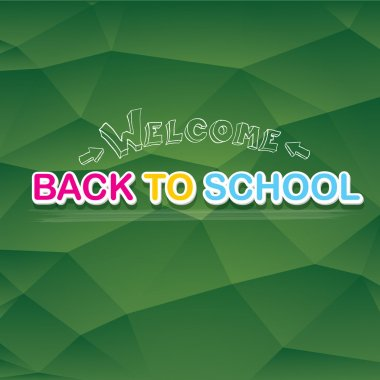 welcome Back to school text on green chalkboard