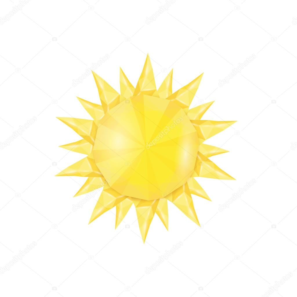 Sun icon . Vector illustration