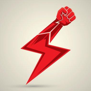 vector fist icon. revolution fist.