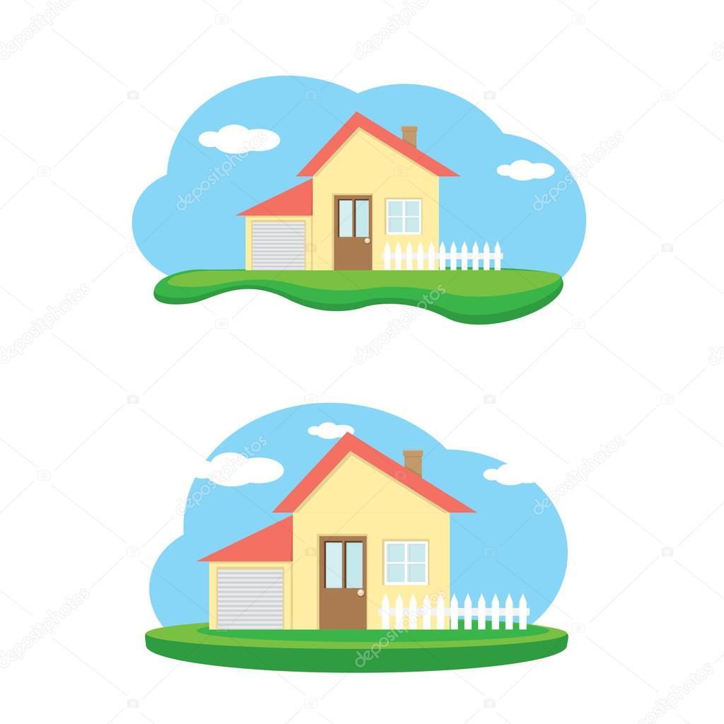 Vector ilustración de la casa. hogar dulce hogar — Vector de stock ...