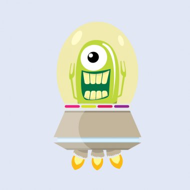 ufo. alien vector. flying saucer