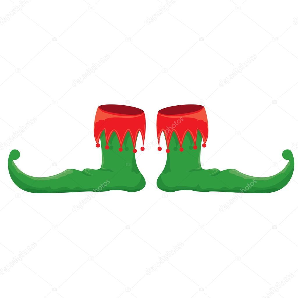 Chaussures De Lutin De Noel Illustration Vectorielle Image