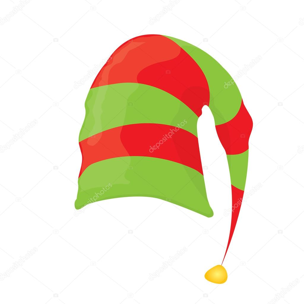 cappello elfo di Natale. illustrazione di vettore — Vettoriali Stock ... 590da0335622