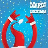 Santa Claus Hand Rock n Roll-Vektor-illustration