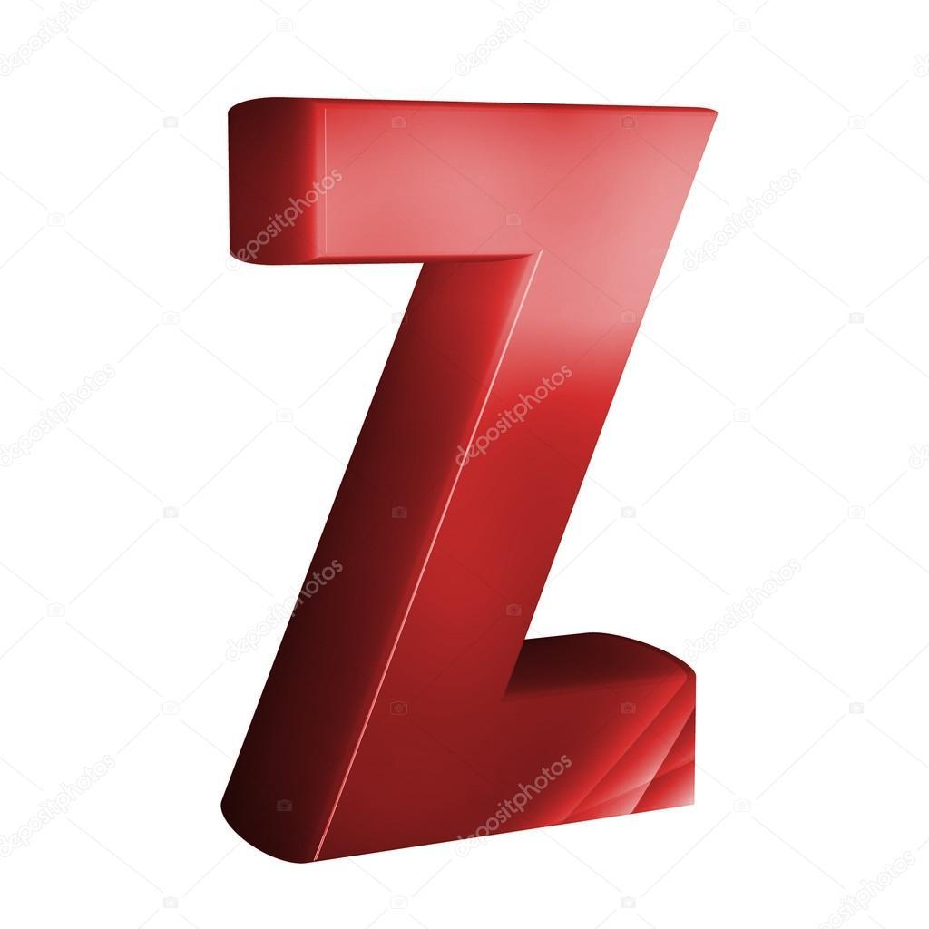 Piękny Czerwony Czcionki 3d Litera Z Zdjęcie Stockowe Froemic