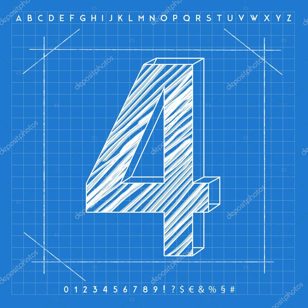 3d blueprint font stock photo froemic 92022234 3d blueprint font stock photo malvernweather Image collections