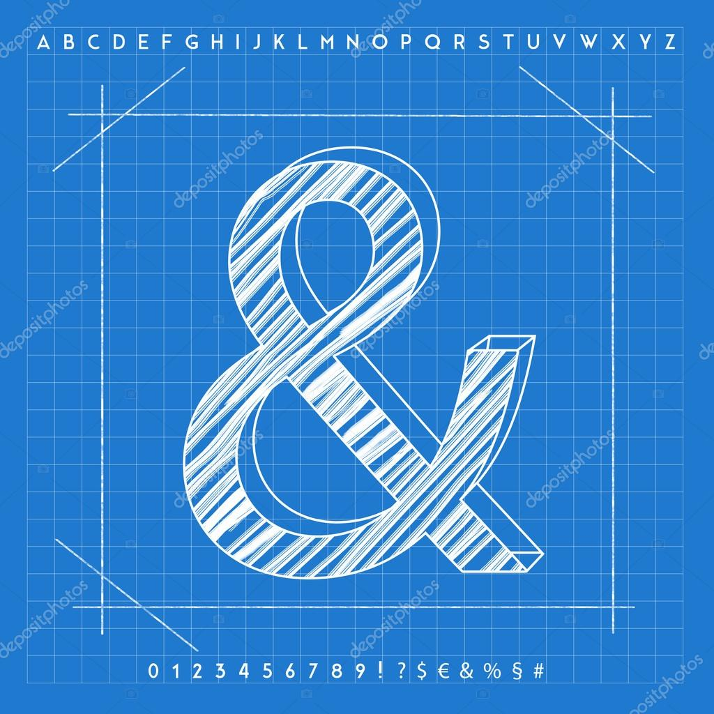 3d blueprint font stock photo froemic 92022278 3d blueprint font stock photo malvernweather Image collections