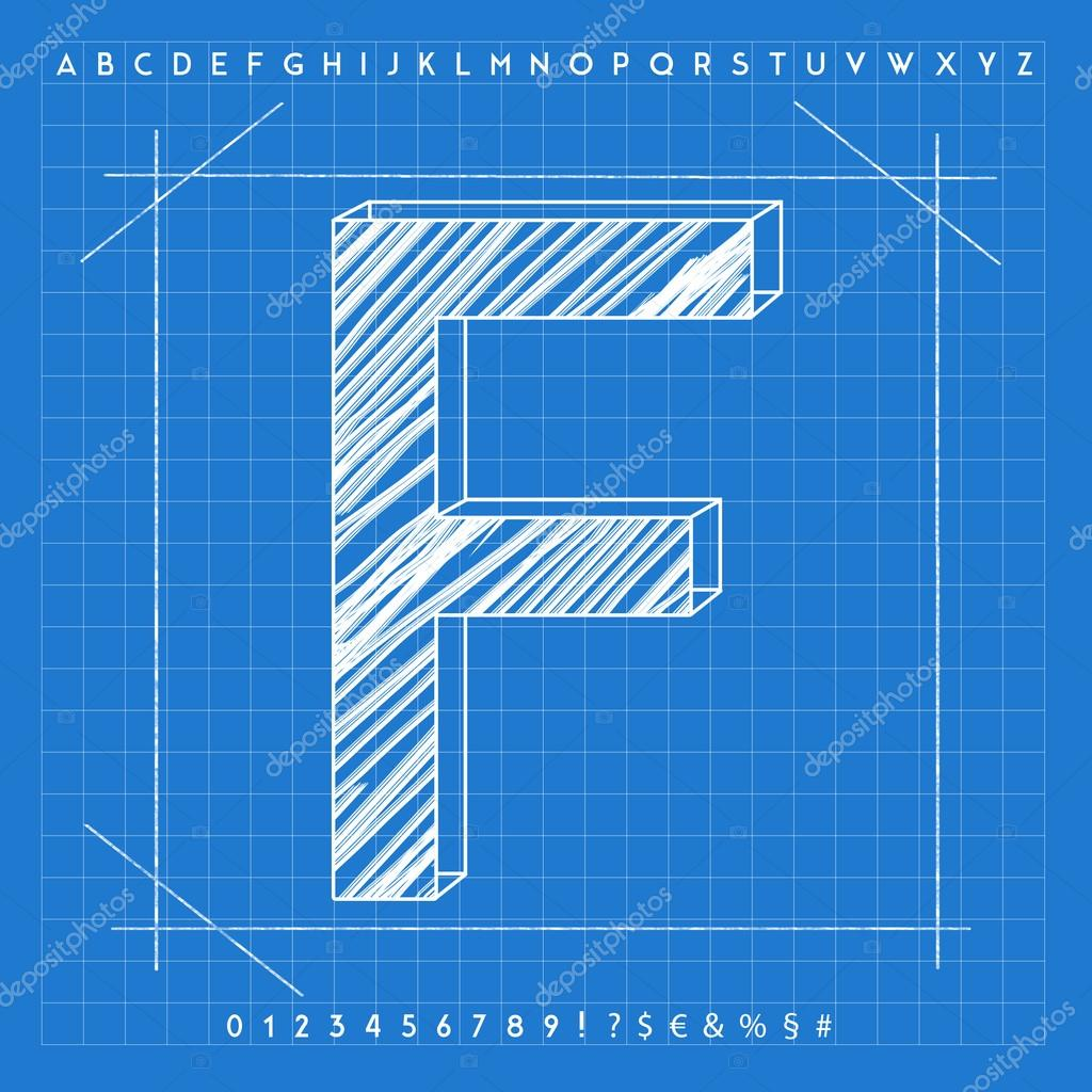 3d blueprint font stock photo froemic 92022344 3d blueprint font stock photo malvernweather Images