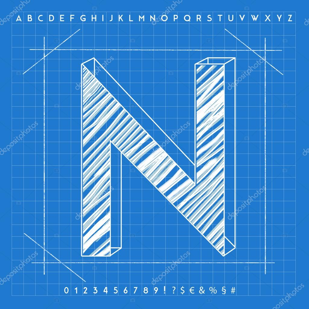 3d blueprint font stock photo froemic 92022392 3d blueprint font stock photo malvernweather Images