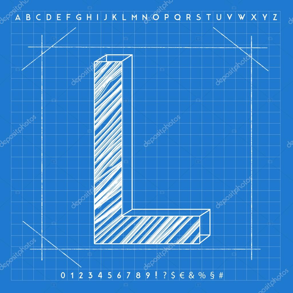 3d blueprint font stock photo froemic 92022398 3d blueprint font stock photo malvernweather Image collections