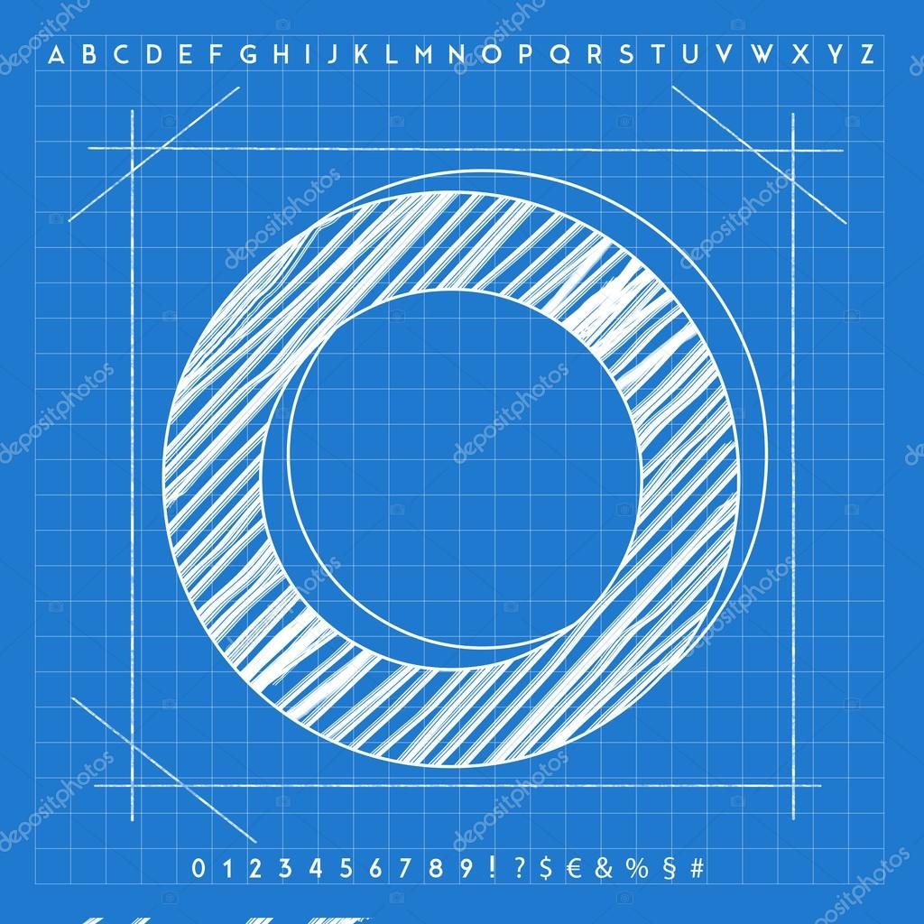 3d blueprint font stock photo froemic 92022442 3d blueprint font stock photo malvernweather Images