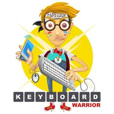 Nerd Geek Keyboard Warrior illustration