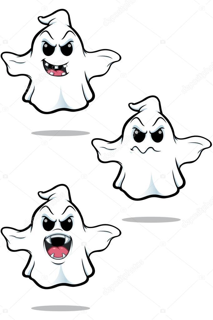 evil cartoon ghost - 400×600