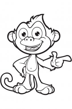 Cheeky Monkey In Black And White