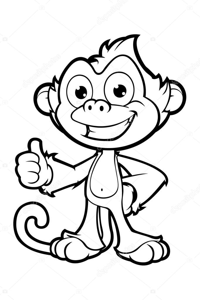 Dibujos Descargar El Niño En Blanco Y Negro Cheeky Monkey En