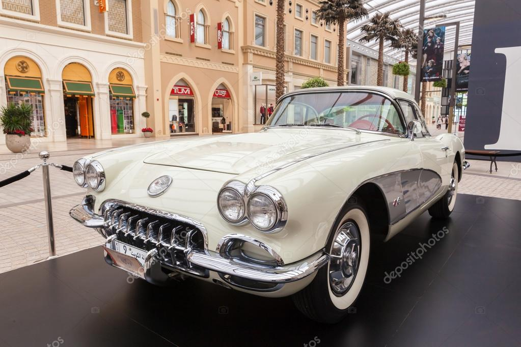 Old Chevrolet Corvette At The Avenues Mall In Kuwait December 10