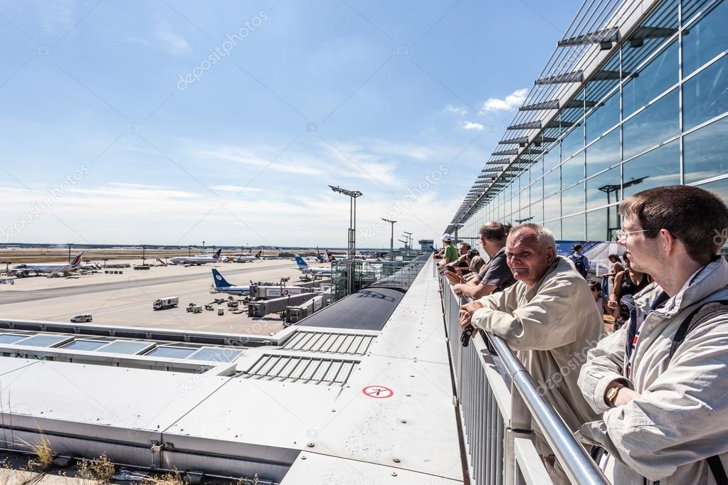 Terraza De Visitantes En El Aeropuerto De Francfort