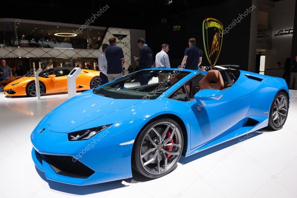 Lamborghini Aventador Convertible At The IAA 2015 U2014 Fotografia De Stock