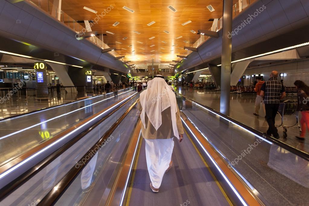 Aeroporto Hamad : Hamad aeropuerto internacional de doha — foto editorial