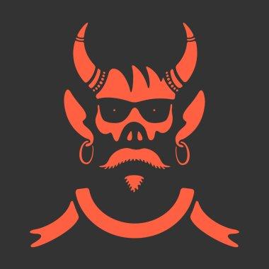 Vector Symbol Skull With Horns