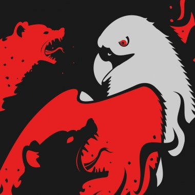 Hyenas attacks Eagle