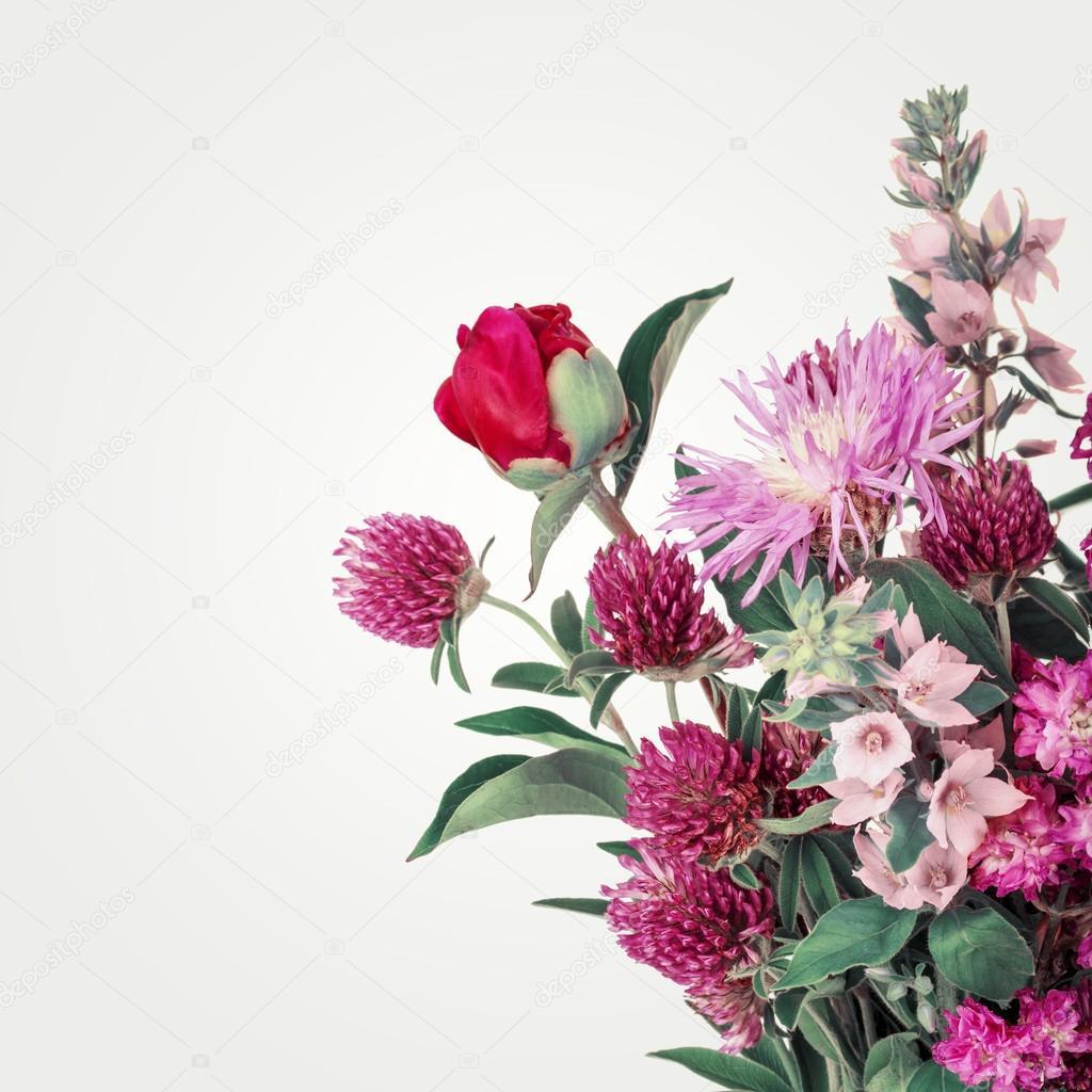 bouquet de belles fleurs sauvages fond de fleurs sauvages photographie avrorra 97501082. Black Bedroom Furniture Sets. Home Design Ideas