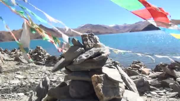 Pobřeží Yamdrok jezero, Tibet, Čína