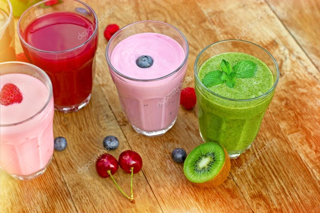 Fresh and healthy organic drinks