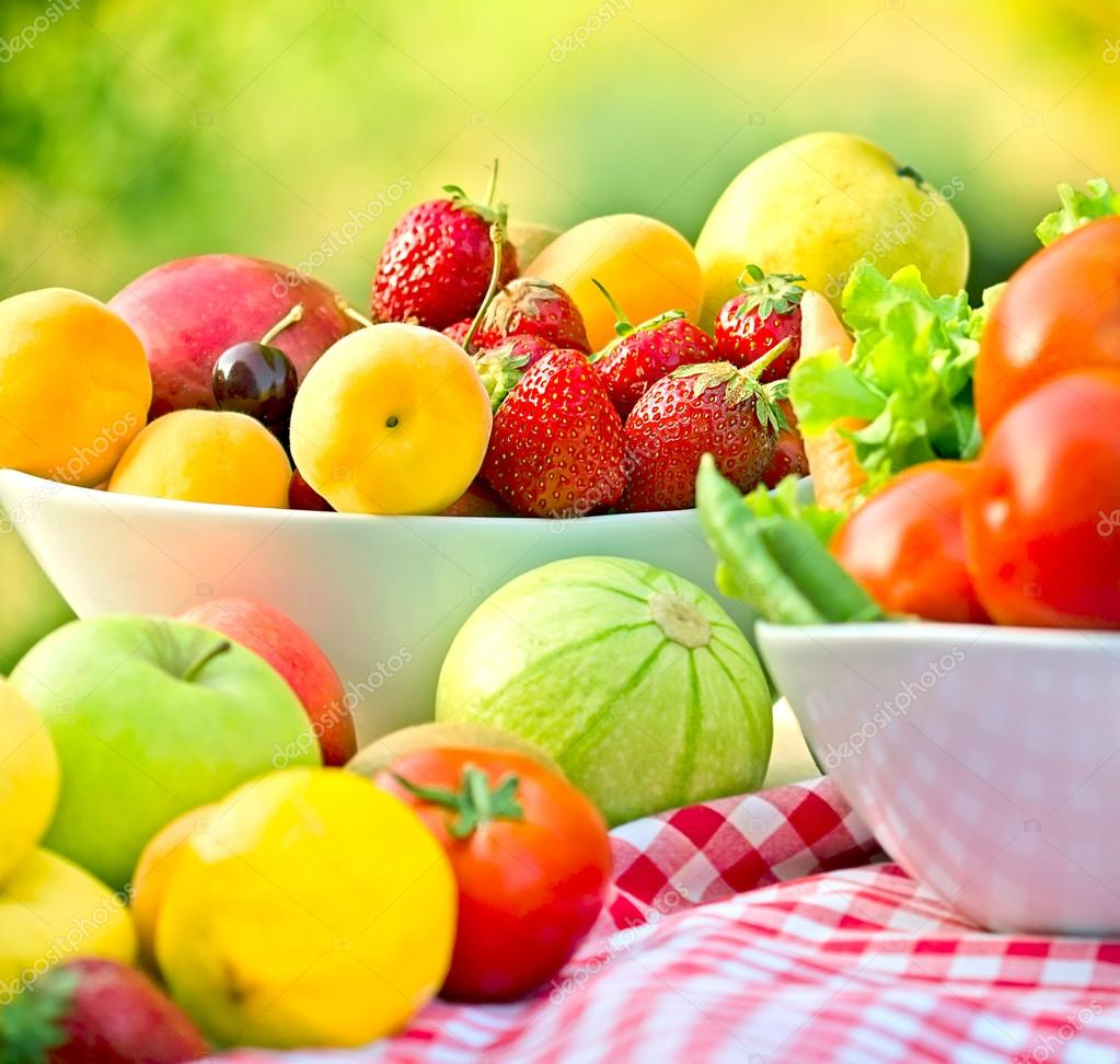 Seasonal Organic Fruits And Vegetables Stock Photo C Lola19 61207153