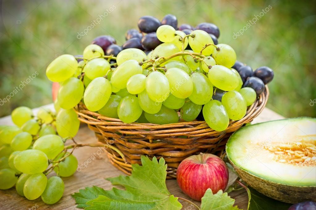 Grapes - white and red grapes (seasonal fruits)
