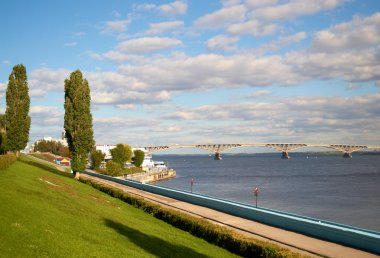 Quay and bridgeon the river