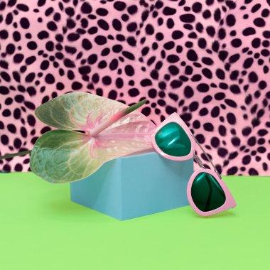 Trendy Sunglasses. Pastel colors Trend. Minimalism fashion