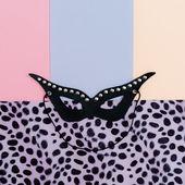 Fotografie Leder-Mode-Accessoires. Maske