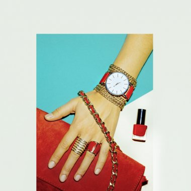 Stylish Accessories. Red is always a trend. Fashion jewelery and