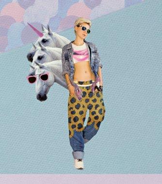 Fashion Collage Magazine. The farm of my dreams. Blonde in styli