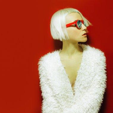 Disco Diva night cities. Fashion sunglasses. Fashion style.