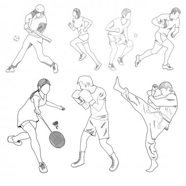 drawing kinds of sports