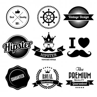 Hipster style Badge and Labels.