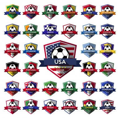 Mega Collection of soccer badge